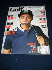 Rickie Fowler Autographed Golf Digest Magazine/ JSA