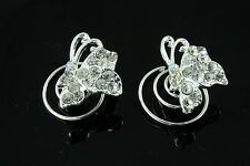 Diamante hair springs coils twists rhinestone butterfly sparkly prom bridal