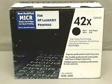 HP Q5942X 42X MICR Secure Black Toner Cartridge LaserJet 4350 New Open Box