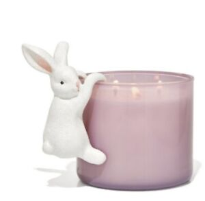 BATH & BODY WORKS 3-WICK CANDLE  CERAMIC HANGING BUNNY FOR EASTER NEW!