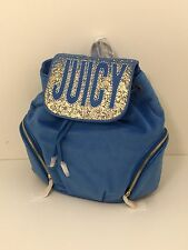 Juicy Couture Velour Backpack Blue Pretty Jc New