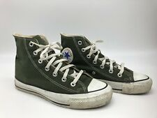 Vintage 90's Made In Usa Chuck Taylor All Star Green High Tops Mens 6 Womens 7.5