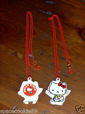 VINTAGE 1976 SANRIO HELLO KITTY MIRROR LOCKET NECKLACE WITH HEART PICK