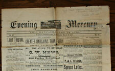 1887 NEWFOUNDLAND MERCURY NEWSPAPER - WOMEN'S DEATH GROSSLY OVER-EXAGGERATED