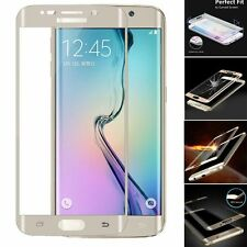 Gold Genuine Premium Tempered Glass Screen Protector For Samsung Galaxy S6 Edge