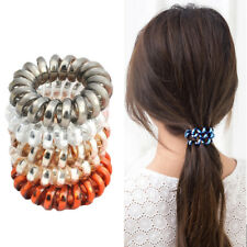 4Pcs Plastic Spiral Hair Bobble Telephone Cable Ties Hair Bands Girl Supplies