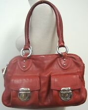 Marc Jacobs Authentic Original Blake Bag Red Leather Silver Hardware Top Handle