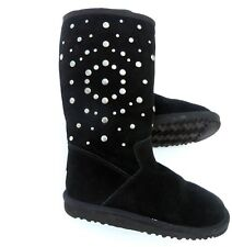 UGG Rockstar Black Suede Studded Boots Youth Sz 3
