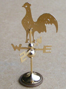 1:12 Scale Metal One Piece Cockerel Weather Vane Tumdee Dolls House Miniature 95