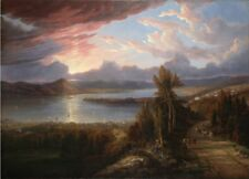 """oil painting 100% handpainted on canvas """"Hudson River North to Croton Point """""""