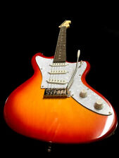 NEW  6 STRING JAG.-STYLE ELECTRIC GUITAR SOLID BODY & MAPLE NECK