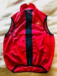 Castelli Techno Sportswear Vest - Red/Grey Color - Size XL - Fits Like a Large