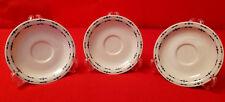 "3 Piece Ranmaru Stoneware ""Ceramate"" Fine China Saucer Plates - Japan Motion"