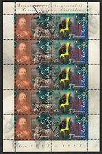 Australia Sg 1702a Scott 1607a Xf Mnh 1997 Merino Sheep Minisheet 10x.45