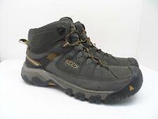 KEEN MEN'S TARGHEE III WATERPROOF MID Hiking Boots BLACK OLIVE/GOLDEN BROWN 12W