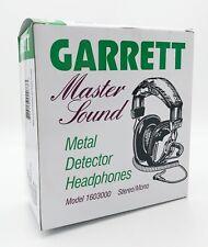 Garrett Master Sound Metal Detector Headphones Model 1603000 - Stereo/Mono