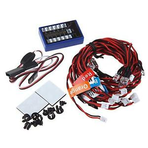 Smart 12-LED Flashing Light Realistic Highlight LED Lamp System for 1/10 RC Cars