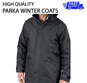 PLAIN NO TEXT Winter PARKA Coat Work Wear Waterproof HQ Jacket Clothing R207x  P