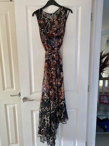 LK Bennett Silk Floral Midi Dress Size 16