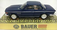Bauer Bmw Coupe 2800 Cs Dark Blue Ho Slot Car Aurora Style Chassis