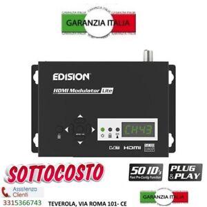 EDISION MODULATORE RF DIGITALE FULL HD HDMI DVB-T T2 NUOVO MODELLO TELECAMERE