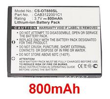 Batteria 800mAh tipo BY42 CAB3120000C1 Per Alcatel One Touch 710A