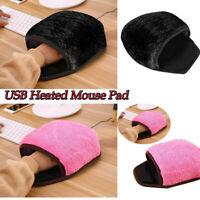 Unisex USB Heated Mouse Pad Mouse Hand Warmer Wristguard Warm Winter Pink &Black