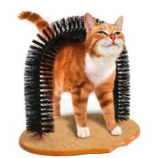 Pet Toy Brush Self Groomer Arch Cat Scratching Brush hairdresser Round Base Tool