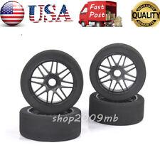 US 4X 1:8 RC Car Tires Wheels Rims Sponge Racing  Hex 17mm For HSP HPI GT XO-1