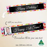 CUSTOM Personalised Balloons 21st Birthday Party Banner Canvas Decorations