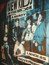 New Kids on the Block affiche concert spectacle vintage