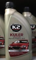 K2 GREEN ANTI-FREEZE RADIATOR & COOLANT LONG LIFE READY TO USE  5 YEARS 1LTR