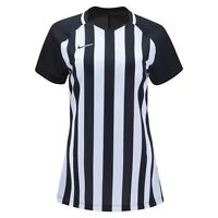 ~NEW~ Nike Women's Striped Division Black & White Soccer Jersey Size Large