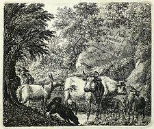 KARL VON VITTINGHOFF - Hirt mit Viehherde - Radierung 1807