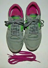 Saucony Jazz Low Pro Gray/Green Sneakers 1866-146 Size 6.5