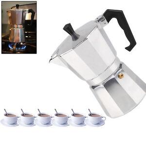 New Italian Espresso Latte Cafetiere Coffee Maker for 6 Cup Cups Percolator UK