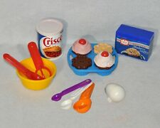 Complete Vintage Fisher-Price Play Food Baking Set 6502 Duncan Hines Crisco 0120
