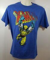 Marvel X-Men Mens S & M Blue Short Sleeve Wolverine Graphic T Shirt New NWOT