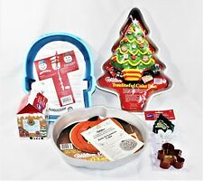 Assorted Wilton Cake Pans and Cookie Cutters Christmas Halloween New