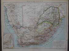 Landkarte Kapkolonien in Südafrika, Kapstadt, Brockhaus um 1898