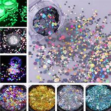 Nail Glitter Sequins Holographic Fluorescent Various Nail Art 3D Decoration DIY