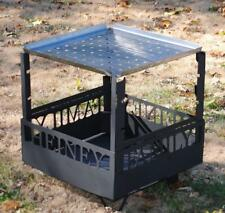 Fire Pit Customized, Removable Fork Stands and Stainless Grill Plate (Shipping