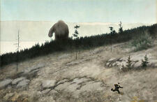Theodor Kittelsen Ashlad and the Troll  Wall Art  Canvas