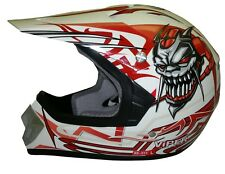 Viper Rs-x11 Kids Childrens MX Motocross Helmet Racing ACU Gold Red S Clearance