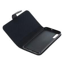 Book Case Etui Handytasche Tasche Hülle f. Samsung Galaxy A50 (Schwarz)