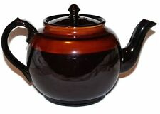 Teapot Pottery England Brown Glazed Vintage
