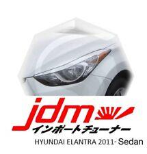 Hyundai Elantra Sedan 4dr UD Eyebrows Eyelids Eye Line Unpainted 2 pcs 2010-2013