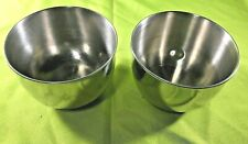 """6"""" Stainless Steel Vintage Mixing Bowls Lot of 2"""