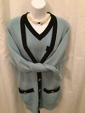 pre-owned auth CHANEL Scottish CASHMERE twin-set Size Medium