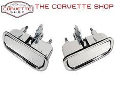 C3 Corvette Exterior Chrome Door Handle Pair w/ Gasket LH RH x2032 x2033 1969-82